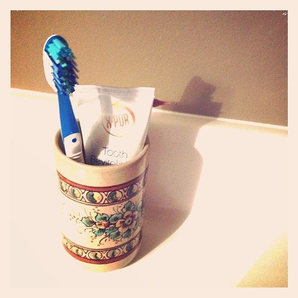 May 2 - morning ritual #fmsphotoaday #toothbrush #toothpaste