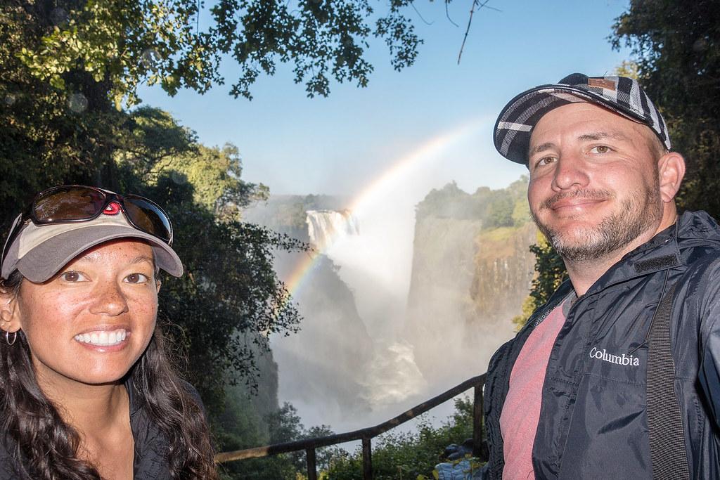 Victoria Falls selfie from Zimbabwe.