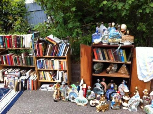 Bookshelves & bottles