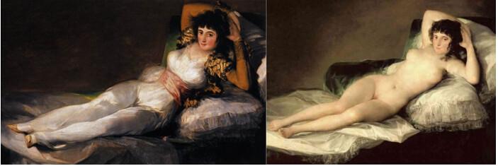 哥雅作品-裸體的瑪哈
