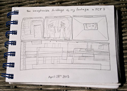 sketchbook: the inexplicable shrinkage of my footage in fcp 7 by Nor Art Germs