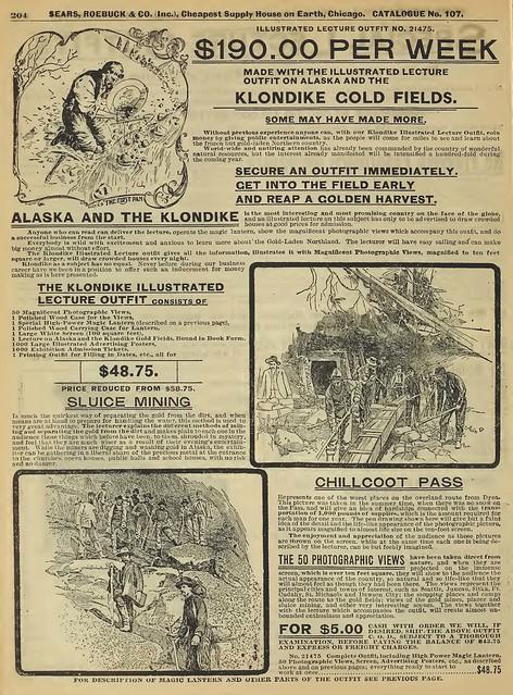Klondike Gold Fields -anuncio de la época-
