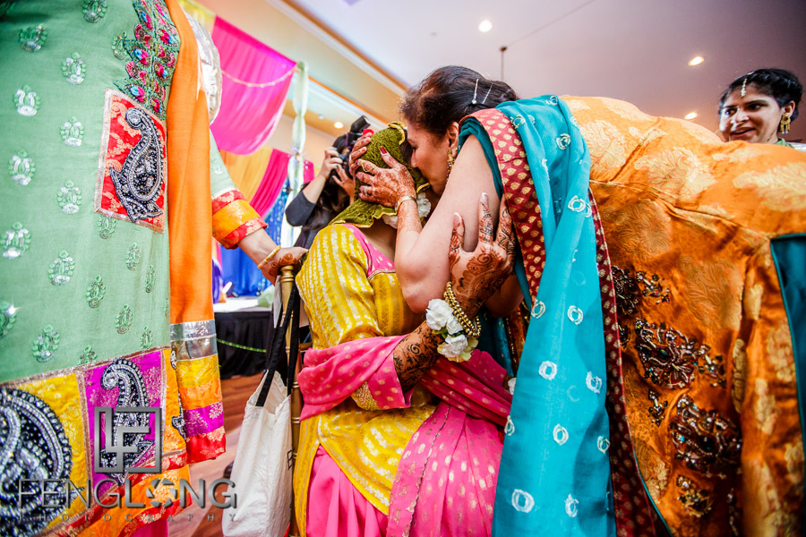 Bride during Pithi ceremony