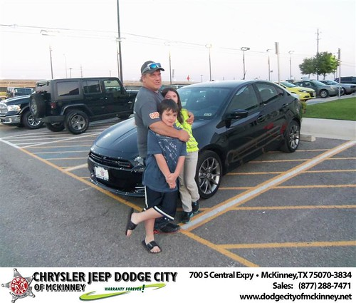 Dodge City of McKinney would like to say Congratulations to Donald Young on the 2013 Dodge Dart by Dodge City McKinney Texas