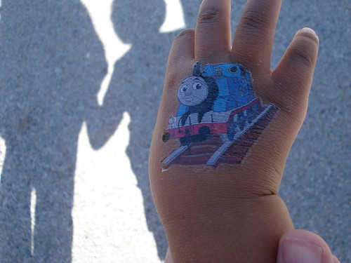 2013-4-13 Fitsum with Thomas the Train 002