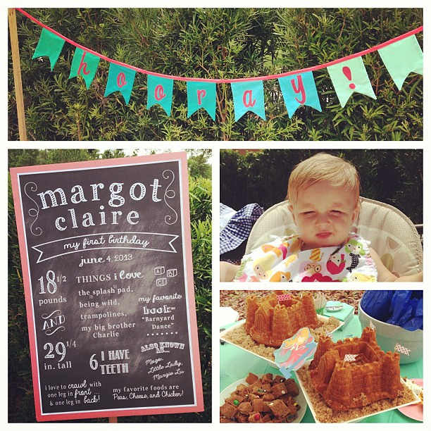 Happy 1st birthday Margot! @sallysarahdsgn