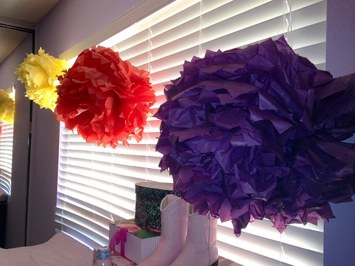 tissue paper poofs