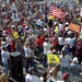 First TEA Party Express rally at Sam Houston Raceway, first time for Robin in front of big crowd