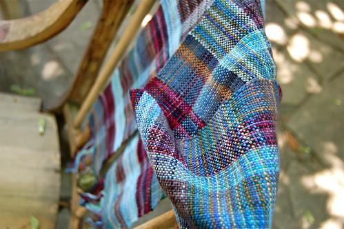 Blue scrap scarf