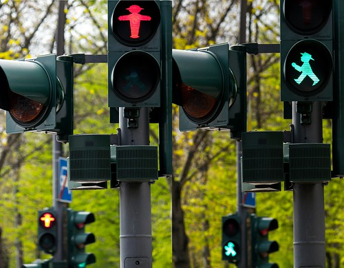 Berlin, Germany, traffic lights