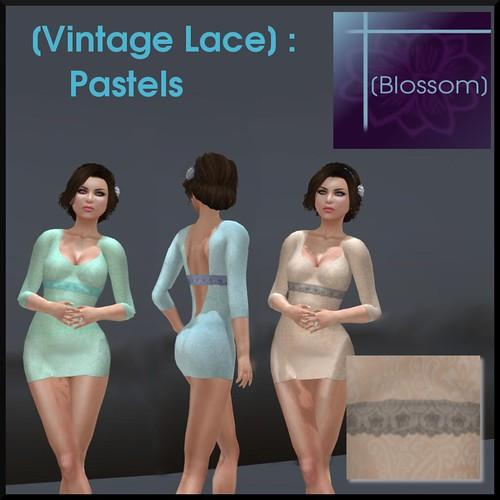 [Blossom] Vintage Lace_ Pastels Vendor