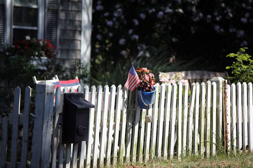 picket fence. cape cod, mass