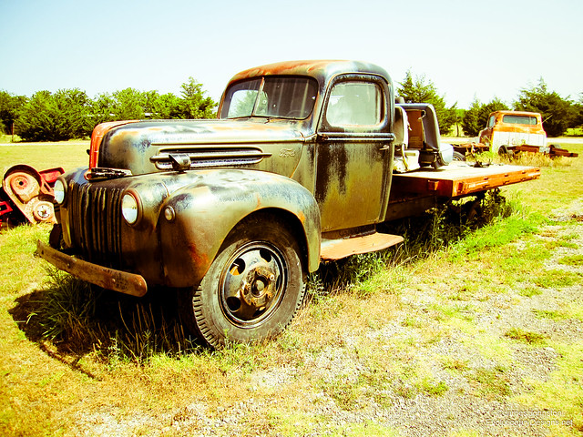 Abandoned Ford Heavy Duty Truck
