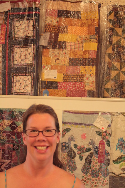 Me and My Blue Ribbon Winning Quilt