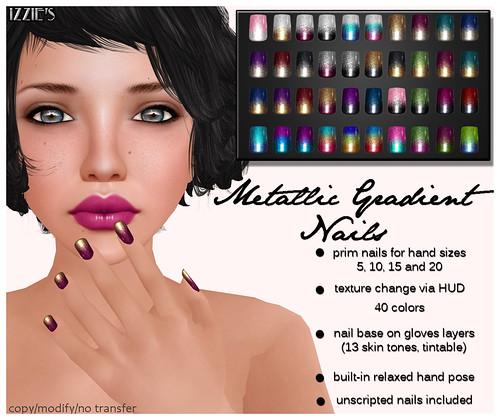 Metallic Gradient Nails