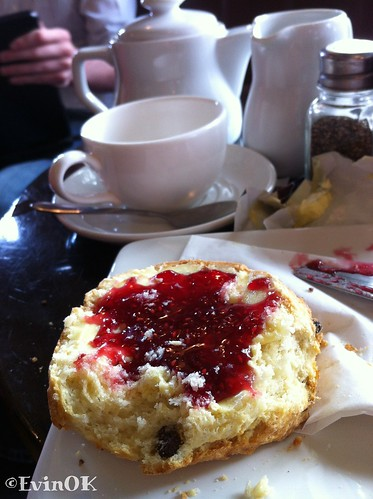 Scone with tea at Electric in Cork City
