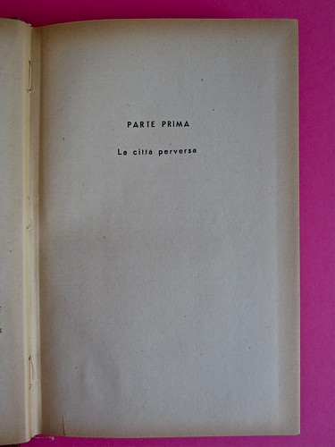 Gore Vidal, La città perversa, Elmo editore 1949. Pag. 9 (part.), 1