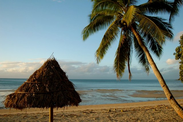 On the beach on Kadavu