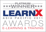 Platinum Winner LearnX Asia Pacific 2011 Awards E-Learning & Training
