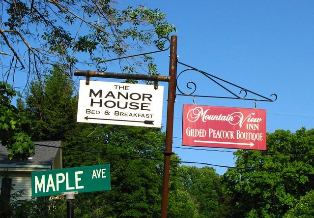 Road Signs at Norfolk, CT