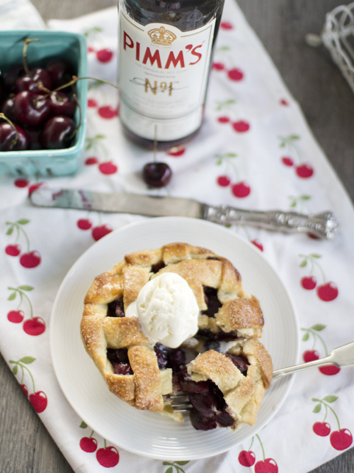 cherry & pimms pie
