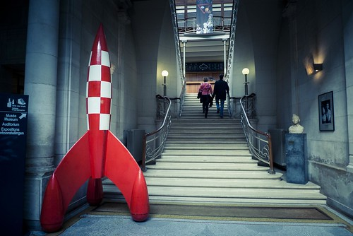 Fly me to the moon... or to comics land (Tintin Rocket, Centre belge de la BD) - Photo : Gilderic