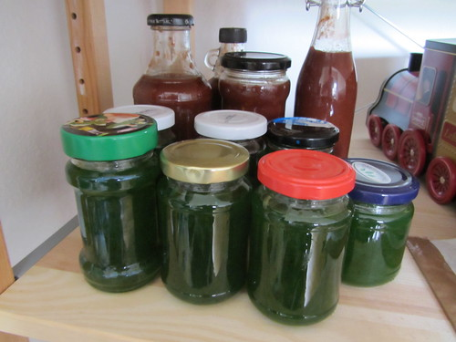 Jalapeno jelly and BBQ sauce
