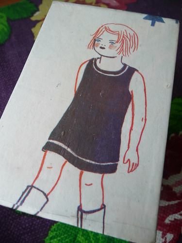Decoupage box with Finnish comic art