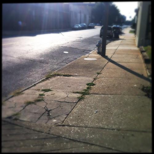 Sidewalk, Downtown Memphis, Tenn.