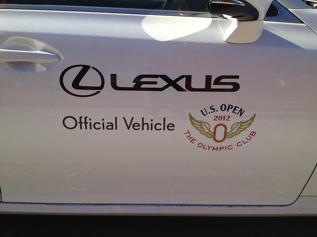 Lexus Official Vehicle, US Open 2012