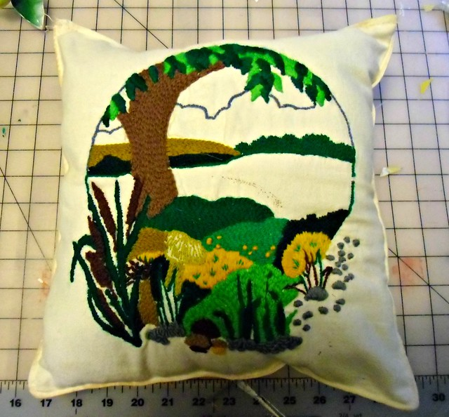 Crewel Pillowcase