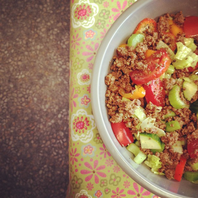 Taco Salad using a new vinaigrette