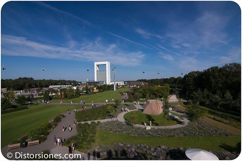 Vista general de la Floriade desde el Rabo Earthwalk