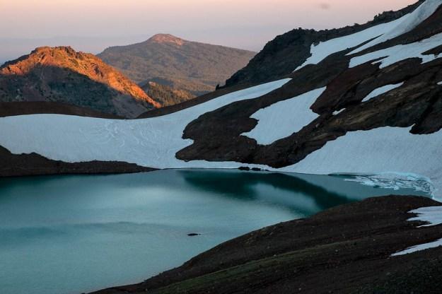 Volcanic lake. Broken Top