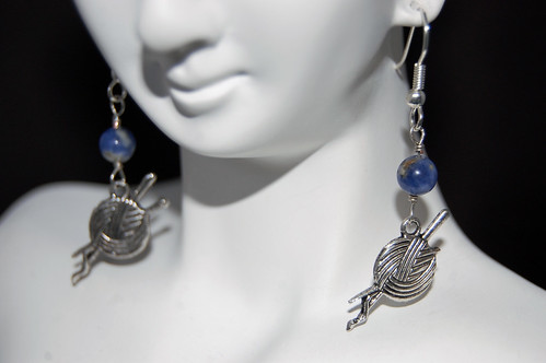 Sodalite Knitter Earrings