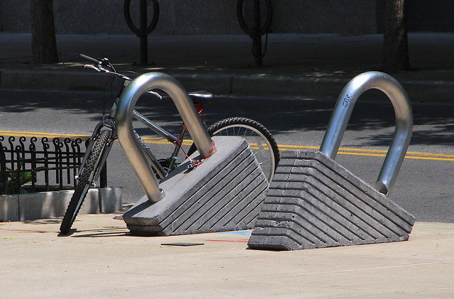 Bike lock rack