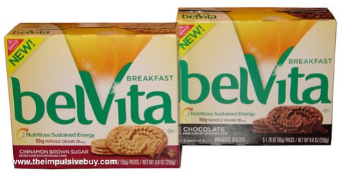 Nabisco belVita Breakfast Biscuits (Chocolate and Cinnamon Brown Sugar)
