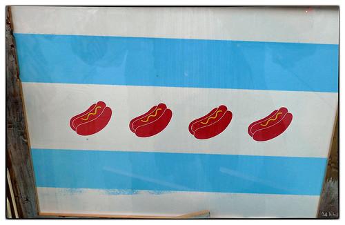 Chicago Hot Dog Flag