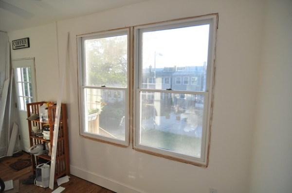 downstairs porch window uncased