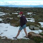 Jenn in the snow on Beartooth Highway