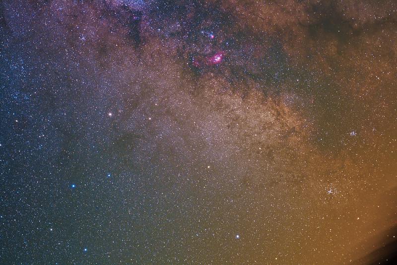 Sagittarius Teapot Asterism and Galactic center