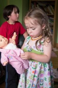 She loves her babies...