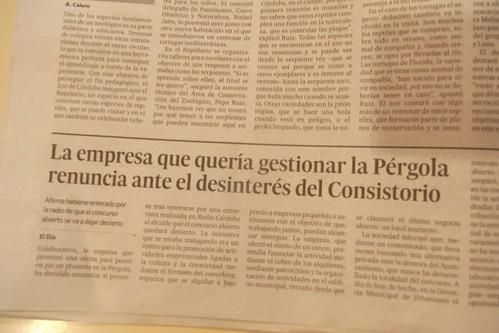 La empresa de jóvenes emprendedores que quería gestionar la Pérgola renuncia ante la falta de respuesta del gobierno municipal.
