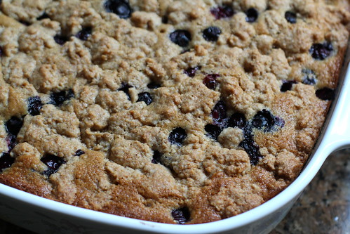 blueberry buckle, close-up