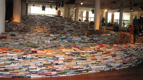 Book maze at Festival Hall, London.