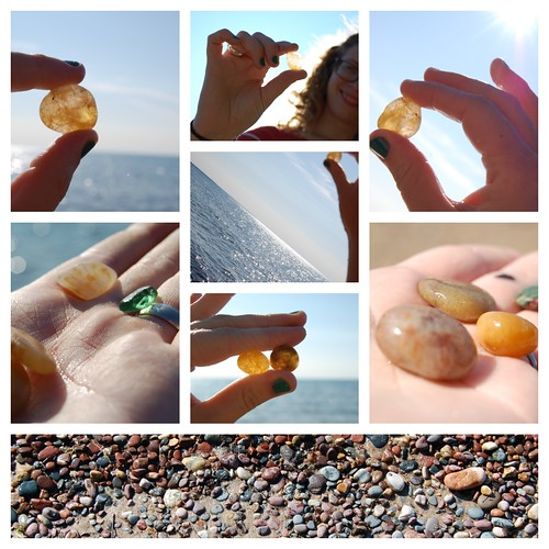 agates on agate beach