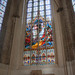Stained glass in St. Marien Church.