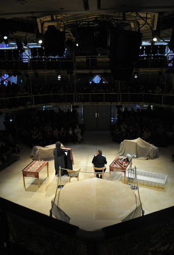 Carol Ann Duffy and John Sampson at the Royal Exchange