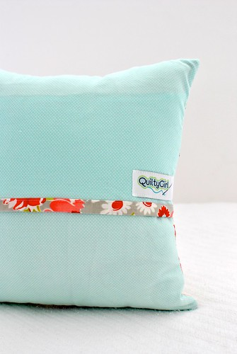 Trip Around the World pillow in Ruby - Back