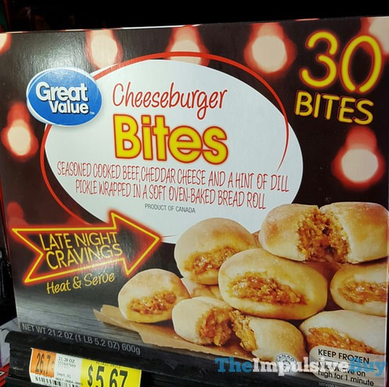 Great Value Late Night Cravings Cheeseburger Bites